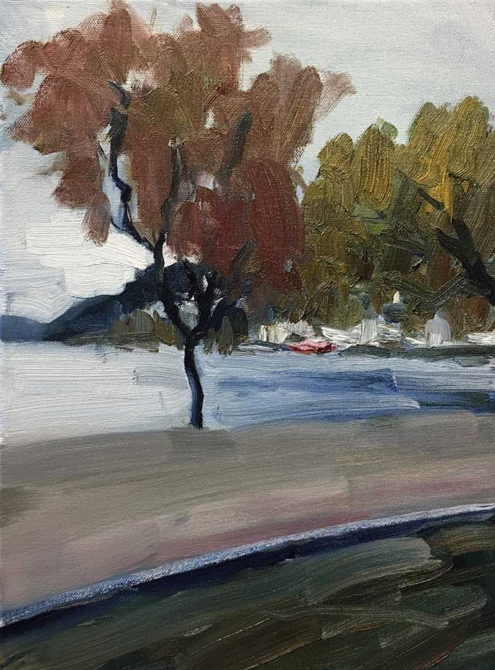 Fresh Off The Easel – Overcast Day In Queenstown