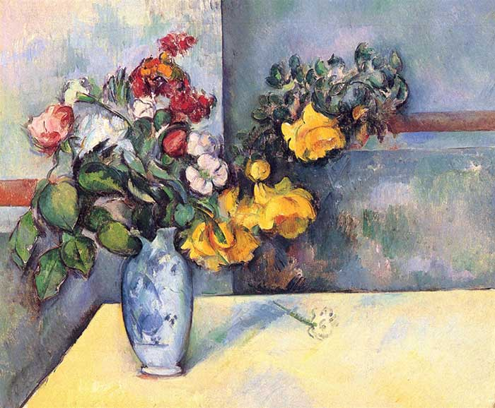 Paul Cezanne, Still Life Flowers In A Vase, 1888