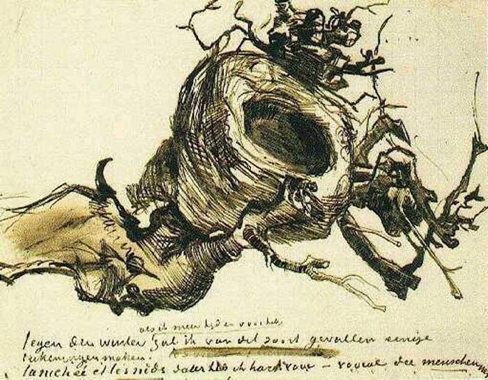 Vincent van Gogh, Bird's Next, 1885