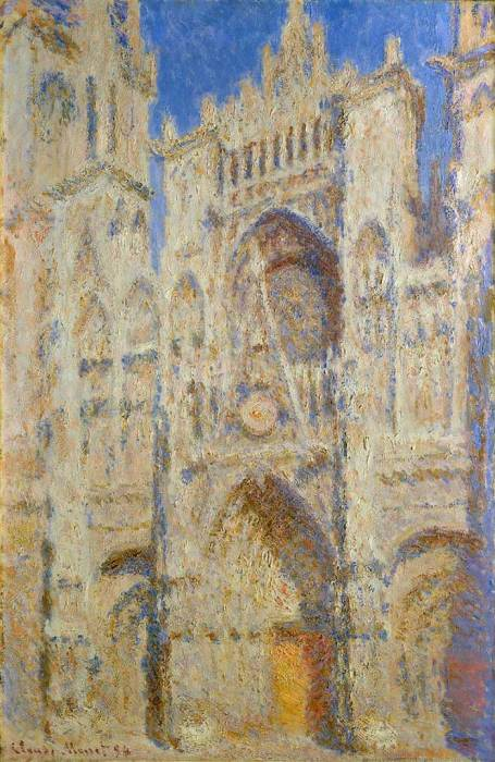 13. Claude Monet, Rouen Cathedral, Portal In The Sun, 1894