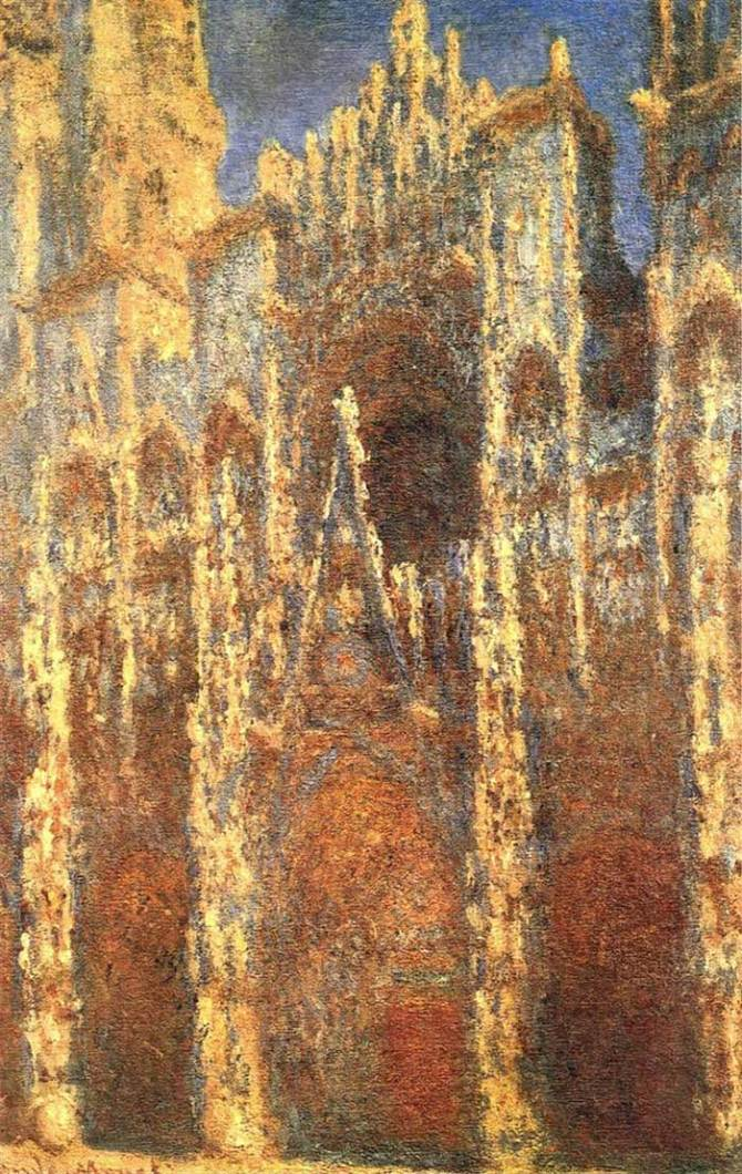 how claude monet documented light using the rouen cathedral. Black Bedroom Furniture Sets. Home Design Ideas