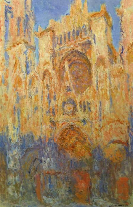 2. Claude Monet, Rouen Cathedral, 1892-1893