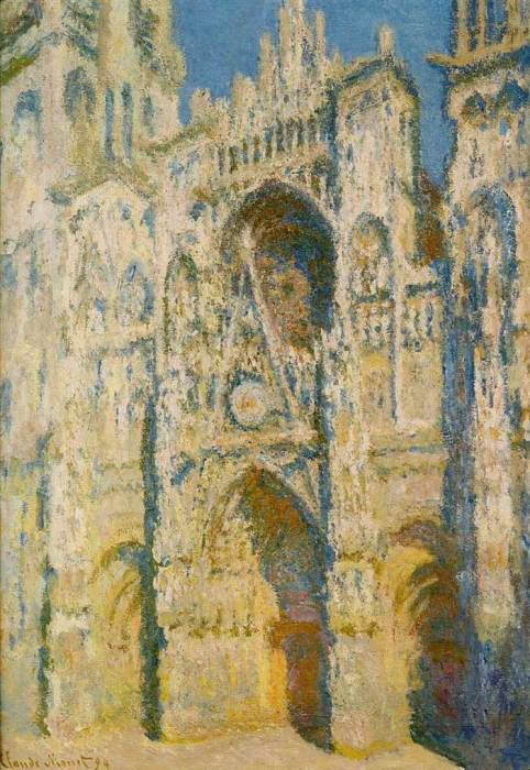 20. Claude Monet, Rouen Cathedral, The Portal And The Tower d'Albane On The Sun, 1894