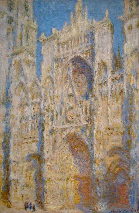 26. Claude Monet, Rouen Cathedral, West Facade, Sunlight, 1894