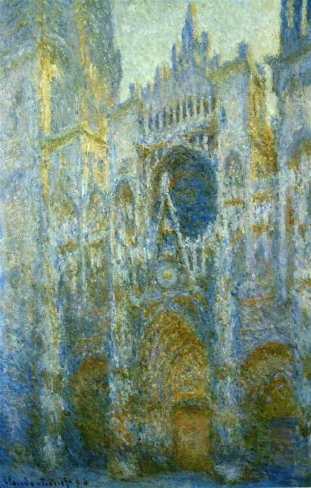 28. Claude Monet, Rouen Cathedral, West Facade, Noon, 1894