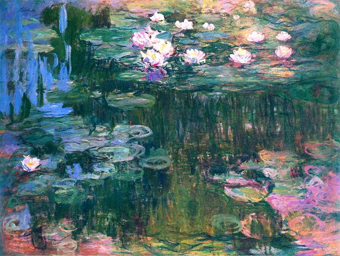 36. Claude Monet, Water Lilies (2), 1914-1917