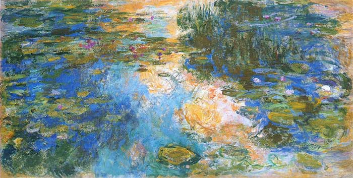 48. Claude Monet, Water Lily Pond, 1917-1919