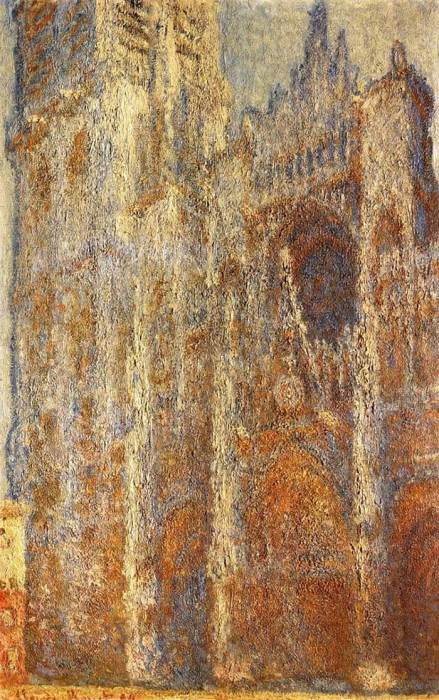 7. Claude Monet, Rouen Cathedral At Noon, 1894