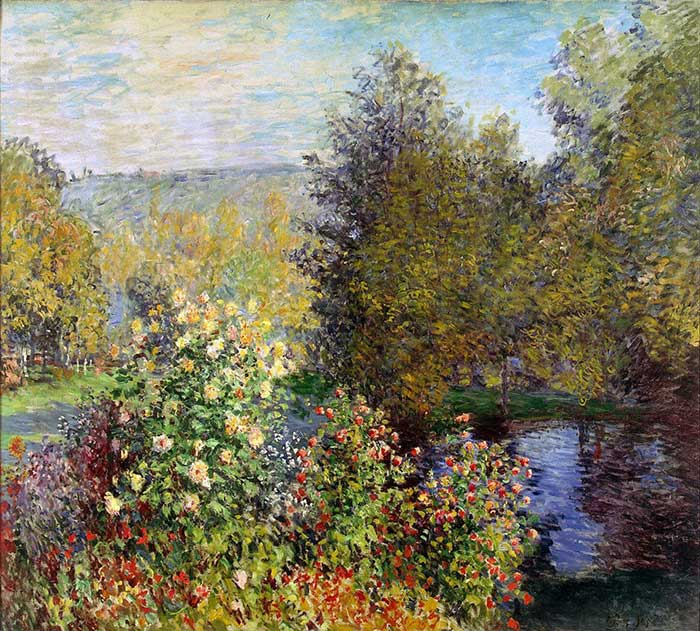 Claude Monet, A Corner Of The Garden At Montgeron, 1877