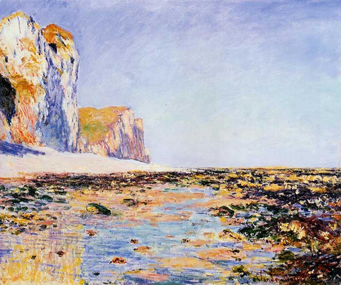 Claude Monet, Beach And Cliffs At Pourville, Morning Effect, 1882