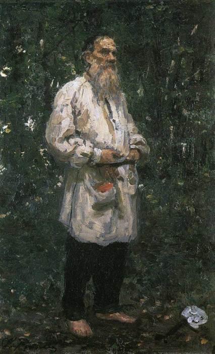 Ilya Repin, Leo Tolstoy Barefoot, 1891