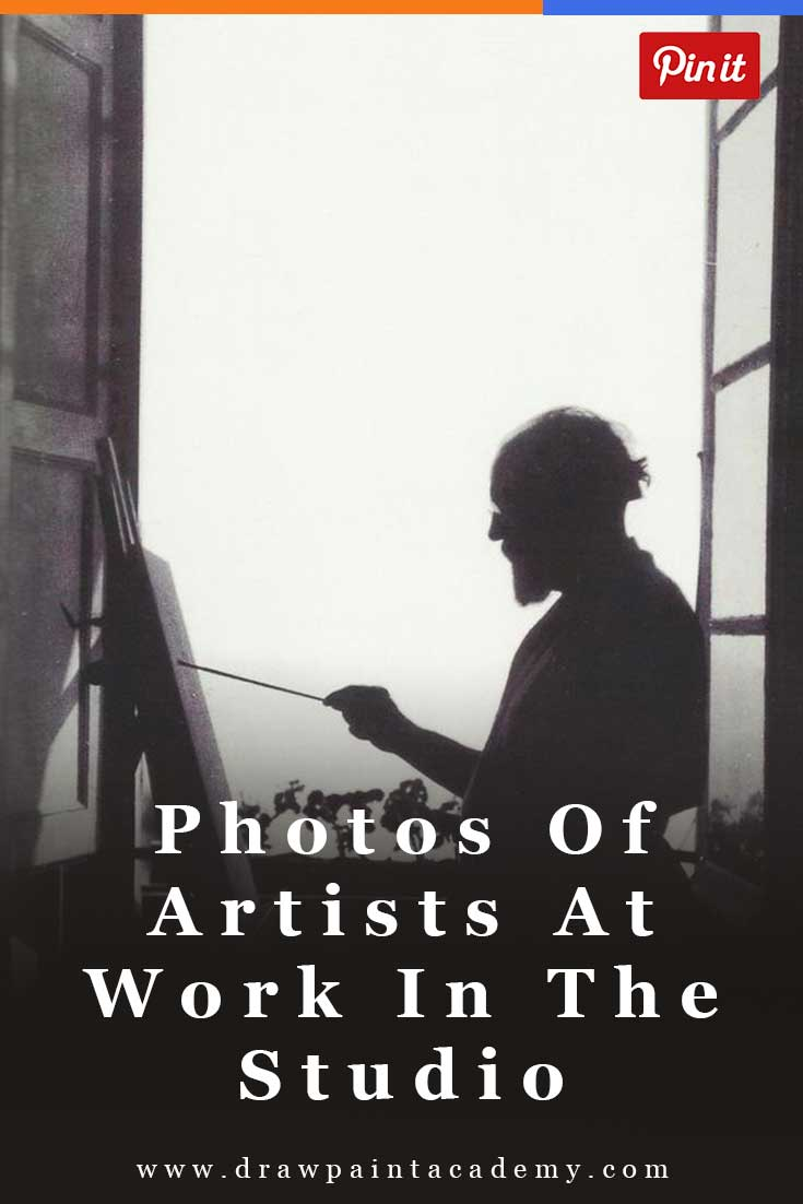 37 Photos  Of Famous Artists Hard At Work In The Studio