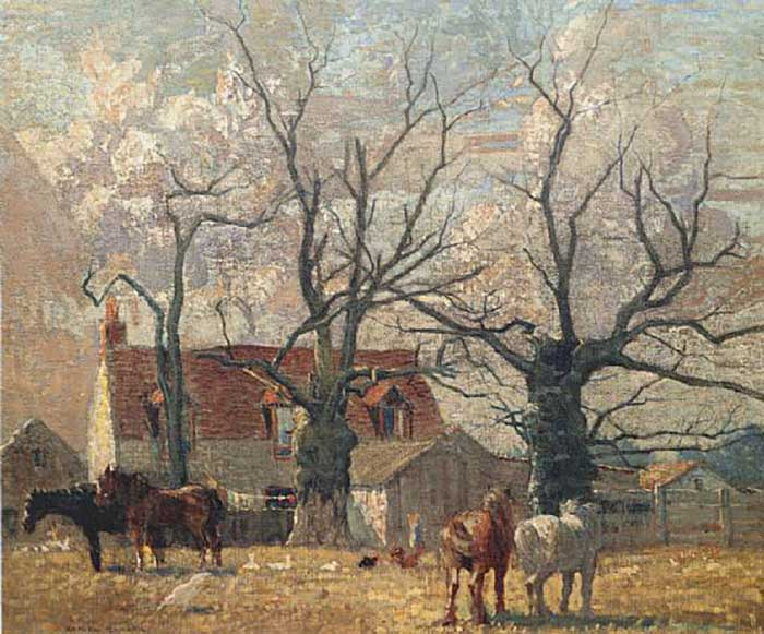 Daniel Garber, Rural Scene, 1905