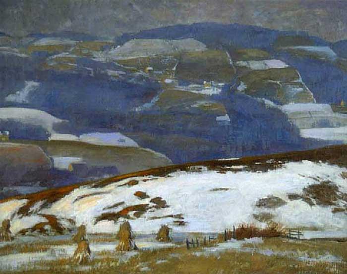Daniel Garber, Winter Landscape, 1930-1940