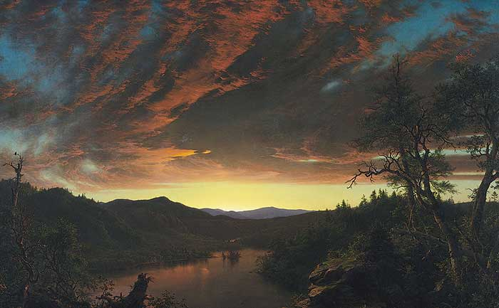 Frederic Edwin Church, Twilight In The Wilderness, 1860