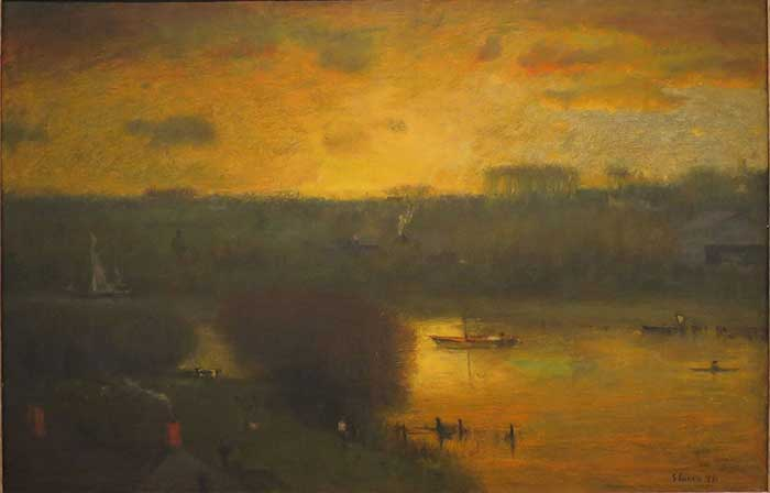 George Inness, Sunset On The Passaic, 1891