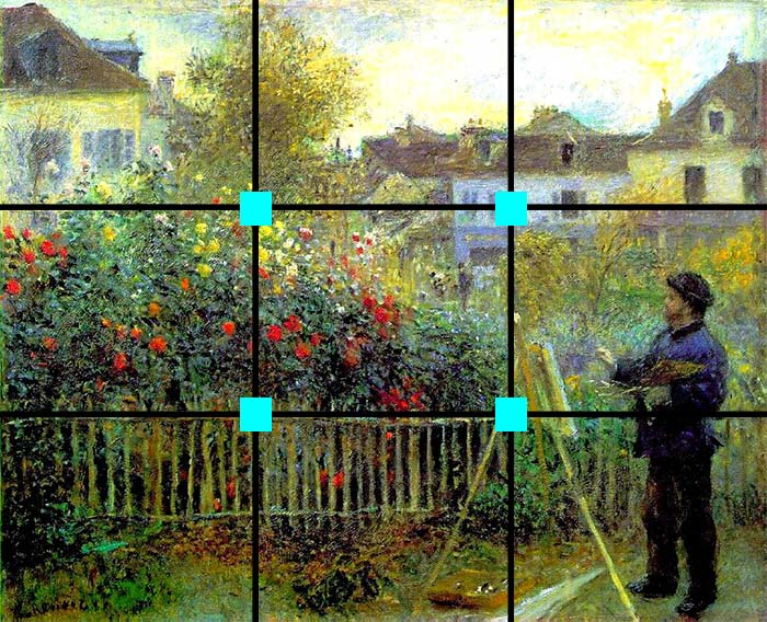 Monet Painting in his Garden at Argenteuil Painting by Pierre-Auguste Renoir, 1873