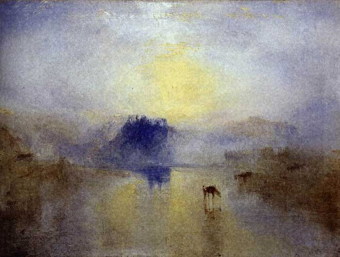 Turner, Norham Castle, Sunrise, 1845