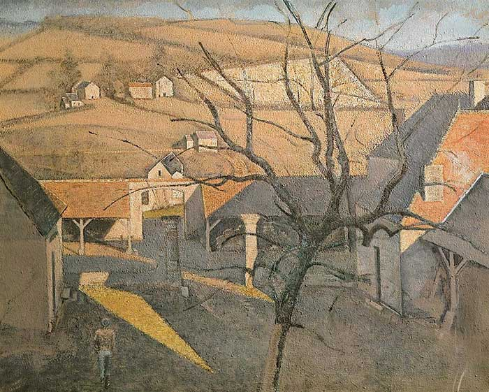 Inspirational Drawing Quotes - Balthus, Large Landscape With A Tree, 1957