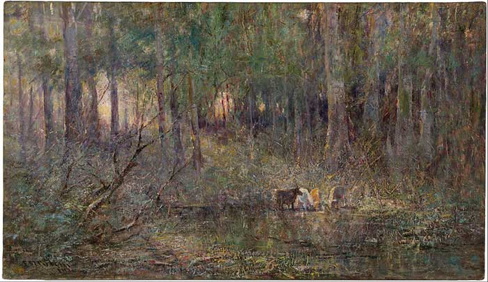 Frederick McCubbin, Violet And Gold, 1911