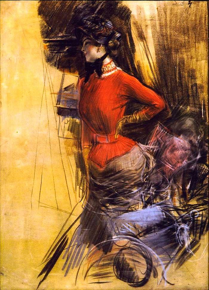 Giovanni Boldini Woman | Portrait Inspiration | Giovanni Boldini, Lady In Red Coat, 1878