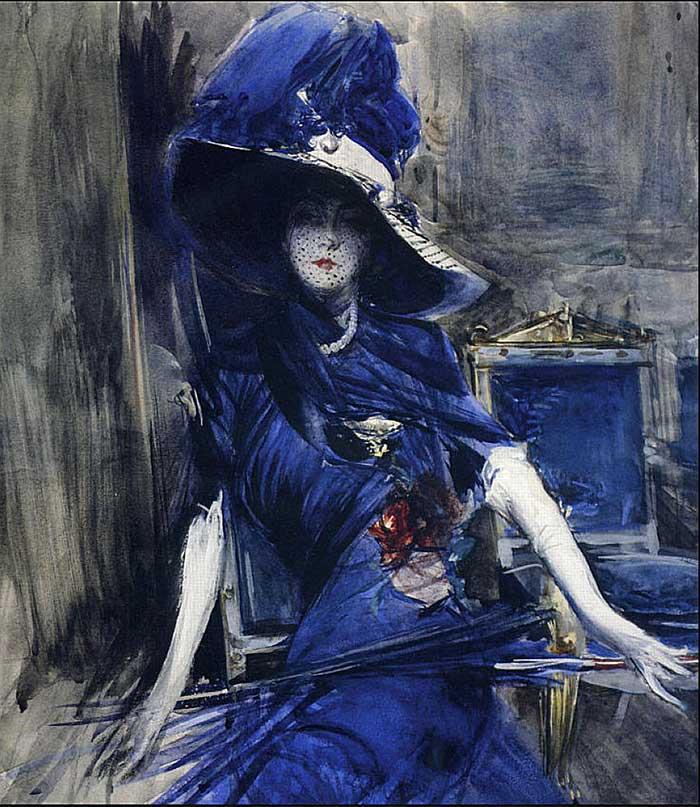 Giovanni Boldini Woman | Portrait Inspiration | Giovanni Boldini, The Devine In Blue