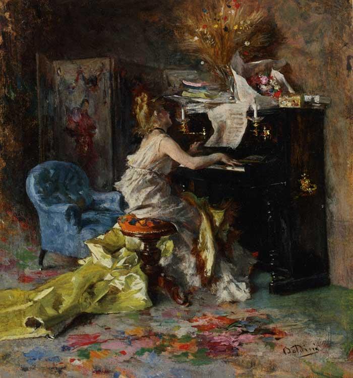 Giovanni Boldini Woman | Portrait Inspiration | Giovanni Boldini, Woman At A Piano