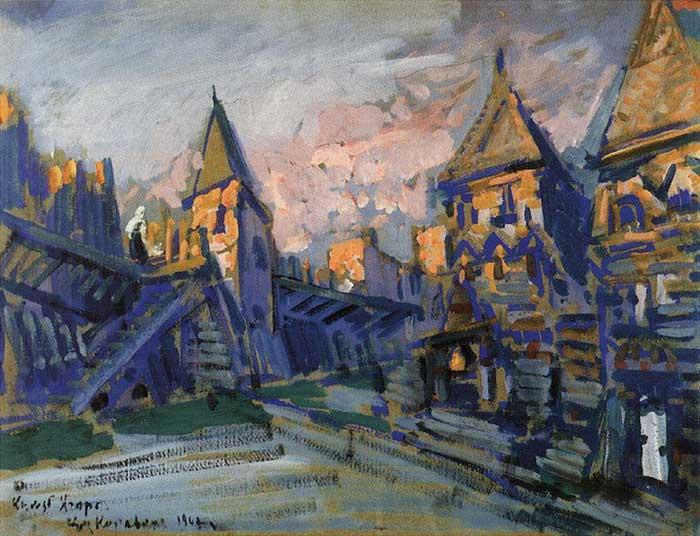 Konstantin Korovin, Yaroslavna's Lament, 1909