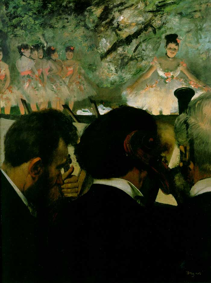 Edgar Degas, Musicians In The Orchesetra, 1872