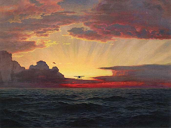 Frederick Judd Waugh, A Dawn Flight