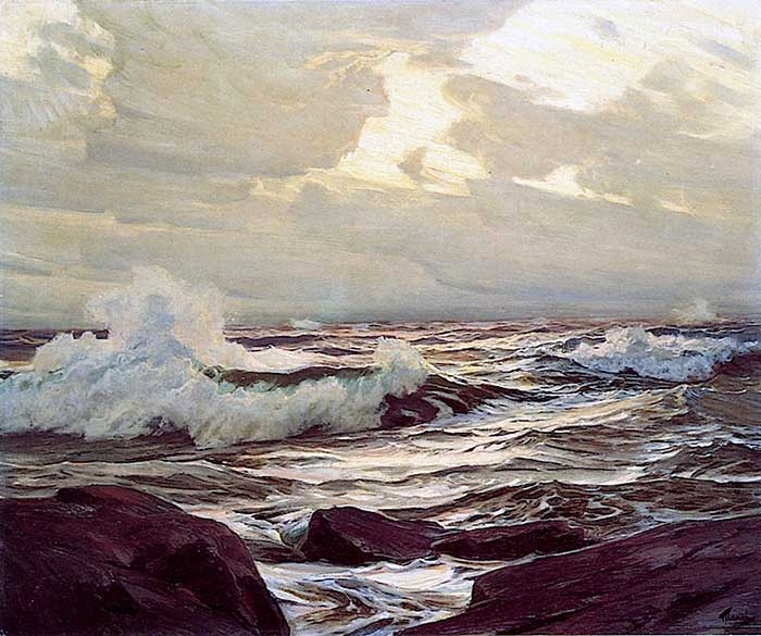 Frederick Judd Waugh, Breaking Waves