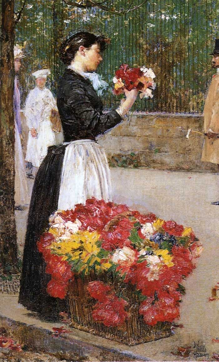 Childe Hassam, Flower Girl, 1888