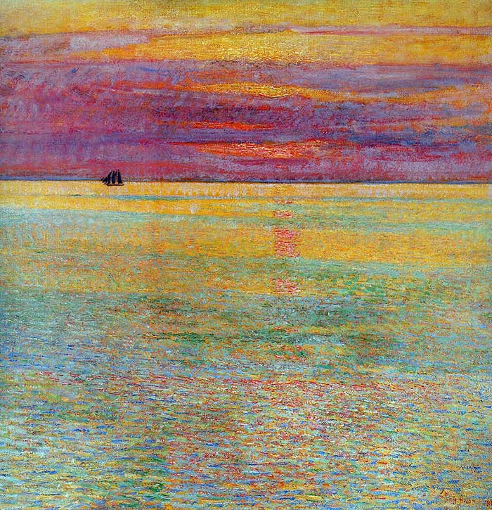 Childe Hassam, Sunset At Sea, 1911