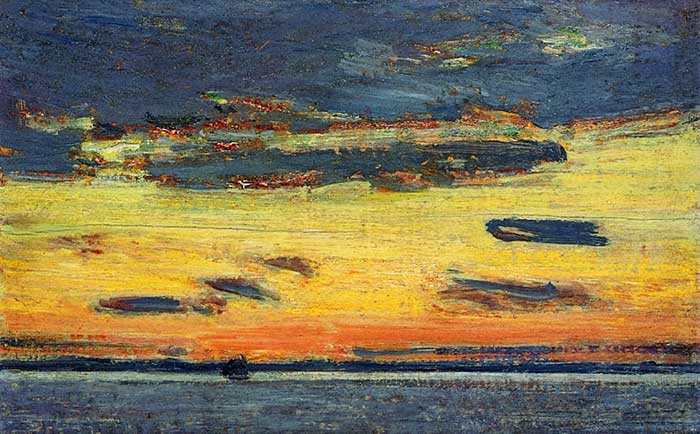 Childe Hassam, Sunset On The Sea, 1908