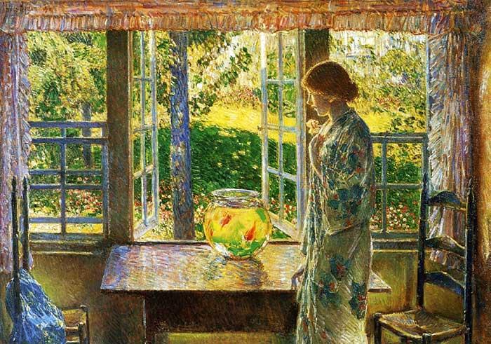 Childe Hassam, The Goldfish Window, 1916
