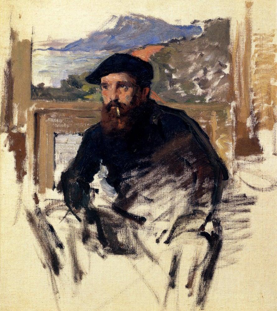 Claude Monet, Self Portrait In His Atelier, 1884