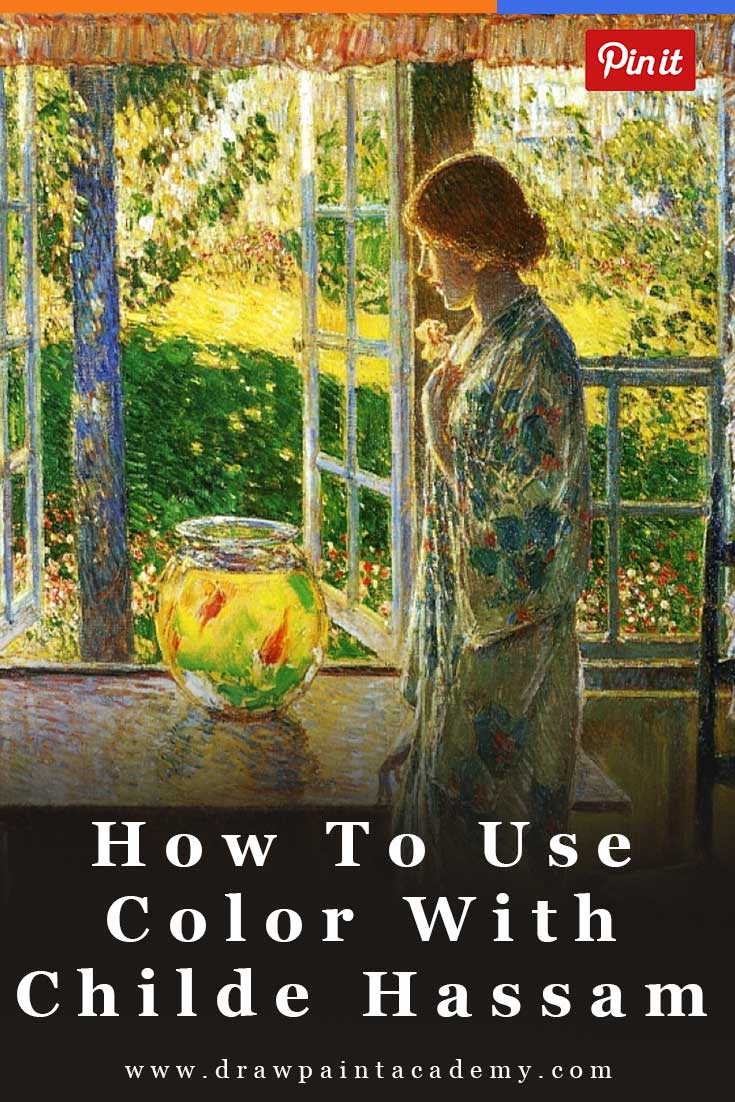 A Demonstration Of How To Use Color By Childe Hassam   Impressionism   Oil Painting   Color Palette   #color #painting