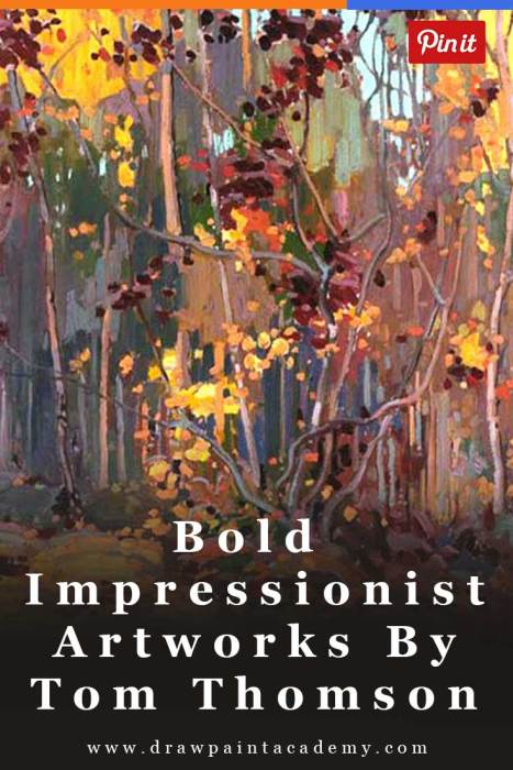 Bold Impressionist Artworks By Tom Thomson