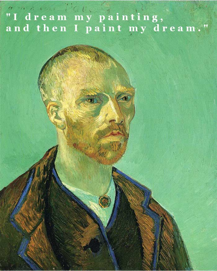 Vincent van Gogh, Self Portrait Dedicated To Paul Gauguin, 1888 | Painting Quotes