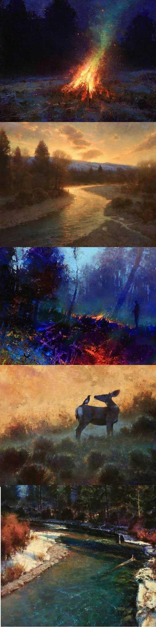 Artist Spotlight - Brent Cotton   Landscape Painting   Art Ideas   Landscape Ideas   Painting Ideas   Art Inspiration