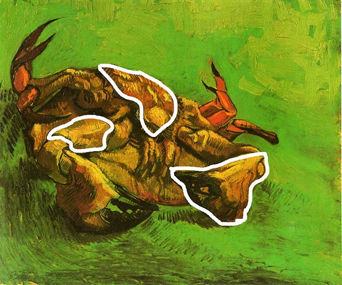 Vincent van Gogh, Crab On Its Back, 1889 - The Visual Elements