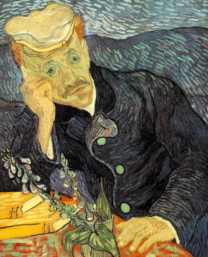 Vincent van Gogh, Portrait of Dr. Gachet, 1890