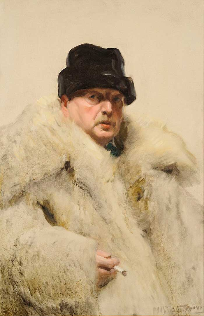 Anders Zorn, Self Portrait With Fur, 1915