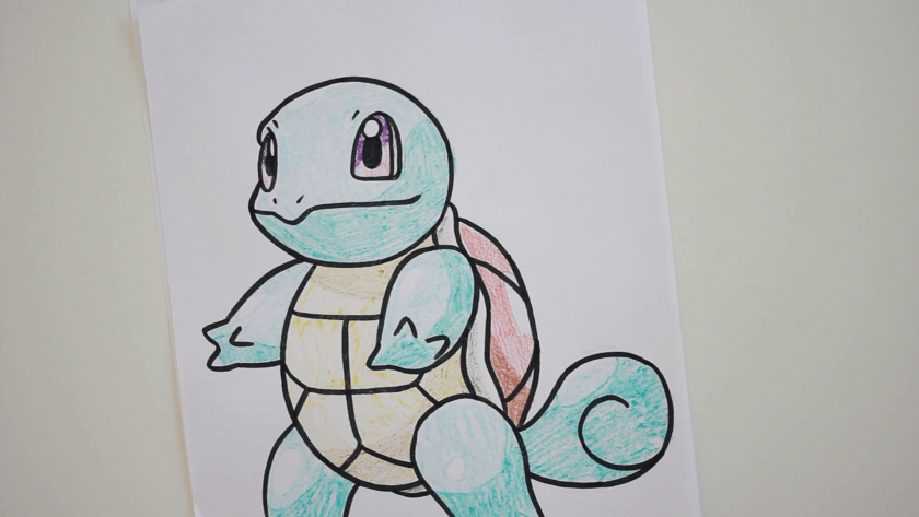 How to Draw Squirtle - Step 5 - Color in Shadow
