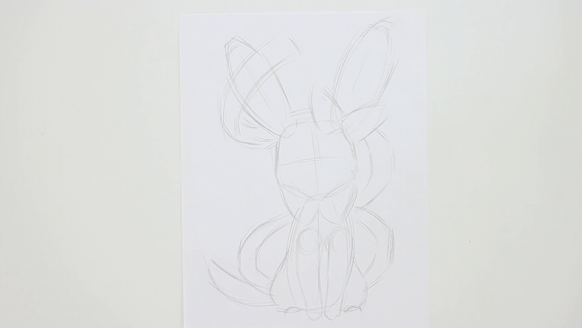 How to Draw Sylveon - Step 1 - Basic Shape and Form
