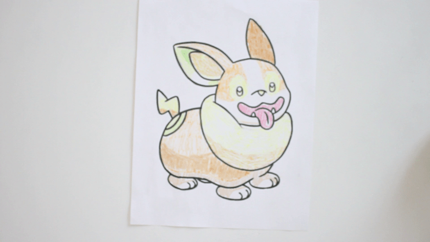 How to Draw Yamper - Step 5 - Color in Shadow