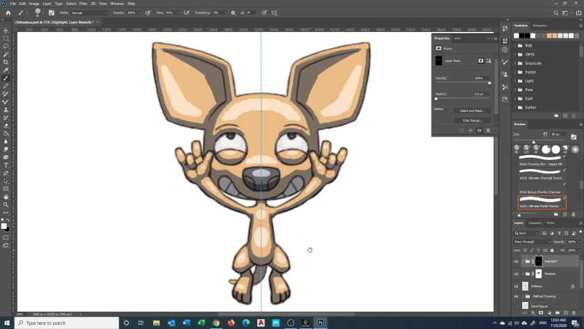 How to Draw Chihuahua - Step 6B - Rough Highlight