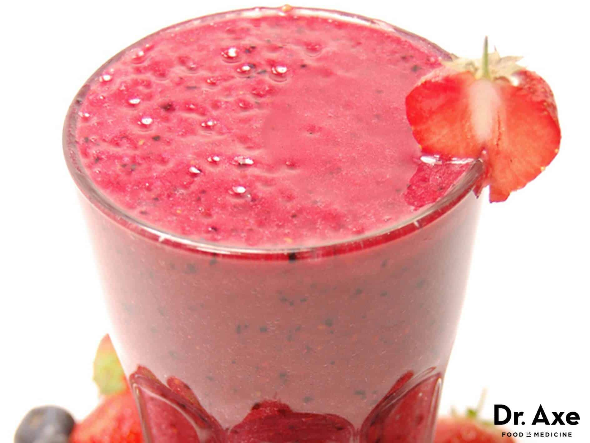 Berry protein smoothie recipe - Dr. Axe