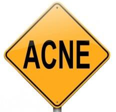 Acne Road caution Sign