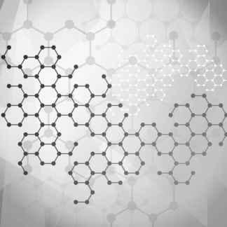 Modèle de molécules grises